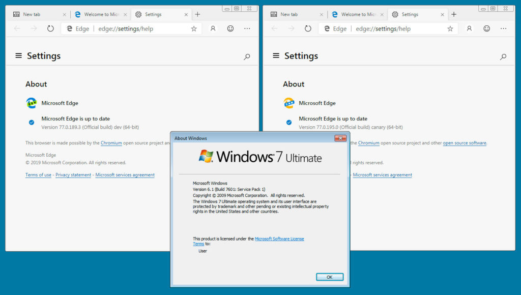 Скачать Microsoft Edge для Windows 7